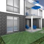Ausschnitt Gartenseite Block  A